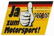 Aufkleber Ja zum Motorsport